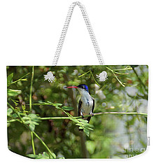 Weekender Tote Bag featuring the photograph Kicking Back by John Kolenberg