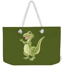 Kiddies Dinosaur T-shirt Weekender Tote Bag by Herb Strobino