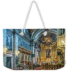 Kielce Cathedral In Poland Weekender Tote Bag by Brian Tarr
