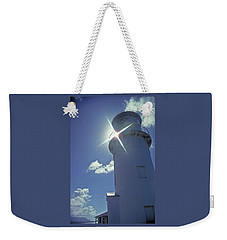 Weekender Tote Bag featuring the photograph Kilauea Lighthouse by Marie Hicks