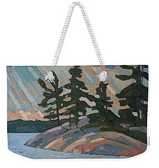 Killbear Pines And Morning Crepuscular Rays Weekender Tote Bag