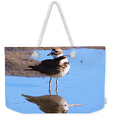Killdeer Reflection Weekender Tote Bag by Karen Silvestri