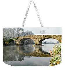 Kilsheelan Bridge In Winter  Weekender Tote Bag