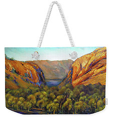 Weekender Tote Bag featuring the painting Kimberley Outback Australia by Chris Hobel