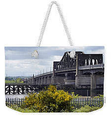 Weekender Tote Bag featuring the photograph Kincardine Bridge by Jeremy Lavender Photography