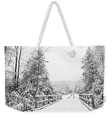 Weekender Tote Bag featuring the photograph Kindness Is Like Snow by Lori Deiter