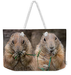 Weekender Tote Bag featuring the photograph Kindred by Robin-Lee Vieira