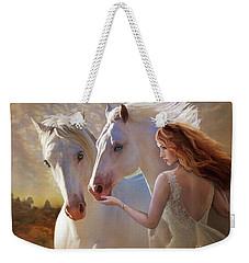 Weekender Tote Bag featuring the digital art Kindred Spirits by Melinda Hughes-Berland