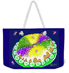 Weekender Tote Bag featuring the digital art King Cake by Jean Pacheco Ravinski