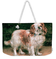 King Charles Spaniel Weekender Tote Bag by George Sheridan Knowles