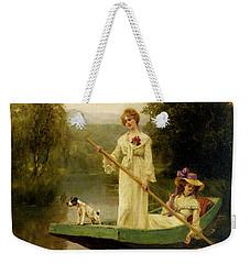 King Henry John Yeend Two Ladies Punting On The River Weekender Tote Bag