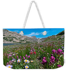 Weekender Tote Bag featuring the photograph King Lake Summer Landscape by Cascade Colors