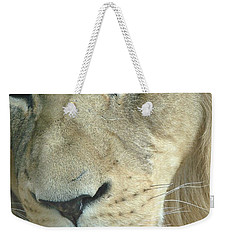 Weekender Tote Bag featuring the photograph King by Margaret Bobb