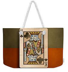 King Of Clubs In Wood Weekender Tote Bag