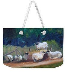 Weekender Tote Bag featuring the painting King Of Green Hill Farm by Donna Tuten