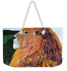Weekender Tote Bag featuring the painting King Of Hearts by Donald J Ryker III