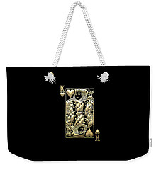 King Of Hearts In Gold On Black Weekender Tote Bag