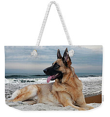 King Of The Beach - German Shepherd Dog Weekender Tote Bag