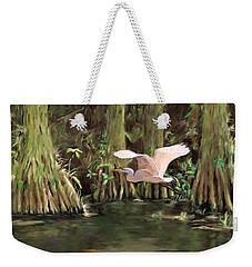 King Of The Swamp Weekender Tote Bag by David  Van Hulst