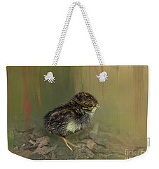 King Quail Chick Weekender Tote Bag