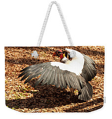 Weekender Tote Bag featuring the photograph King Vulture 3 Strutting by Chris Flees
