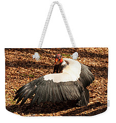 Weekender Tote Bag featuring the photograph King Vulture 4 Strutting by Chris Flees