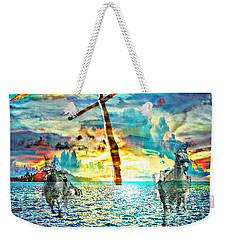 Weekender Tote Bag featuring the digital art Kingdom Come by Jessica Eli