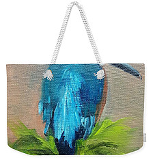 Kingfisher Bird Weekender Tote Bag