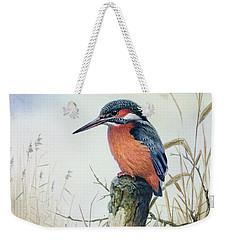 Kingfisher Weekender Tote Bag by Carl Donner