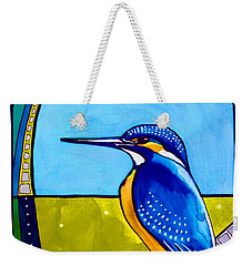 Kingfisher Weekender Tote Bag