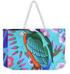 Kingfisher Weekender Tote Bag by Jane Tattersfield