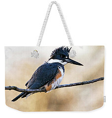 Kingfisher Listens Weekender Tote Bag