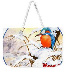 Kingfisher Plate Weekender Tote Bag by John Francis