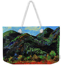 Weekender Tote Bag featuring the painting Kings Canyon Fall Colors by Walter Fahmy
