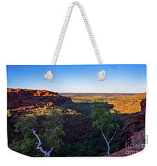 Kings Canyon Panorama Weekender Tote Bag