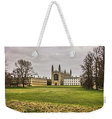 Kings College Chapel Weekender Tote Bag by David Warrington