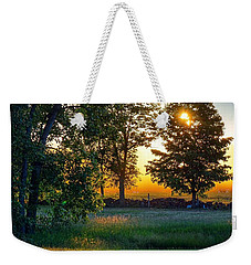 Weekender Tote Bag featuring the photograph Kingsbury Sunset by Kendall McKernon