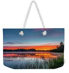 Kingston Lake Sunset Weekender Tote Bag