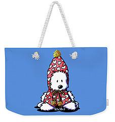 Kiniart Snowbunny Westie Weekender Tote Bag