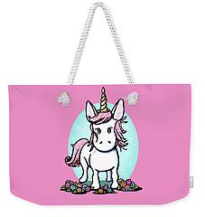 Kiniart Unicorn Sparkle Weekender Tote Bag by Kim Niles