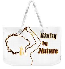 Weekender Tote Bag featuring the digital art Kinky By Nature by Rachel Natalie Rawlins