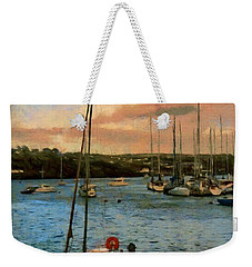 Weekender Tote Bag featuring the painting Kinsale Harbour Evening by Jeff Kolker