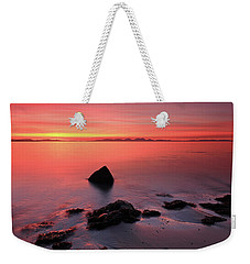 Weekender Tote Bag featuring the photograph Kintyre Rocky Sunset 2 by Grant Glendinning