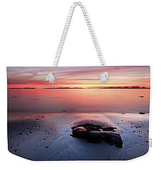 Weekender Tote Bag featuring the photograph Kintyre Rocky Sunset 5 by Grant Glendinning