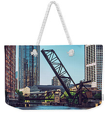 Kinzie Bridge And Rail Bridge Weekender Tote Bag