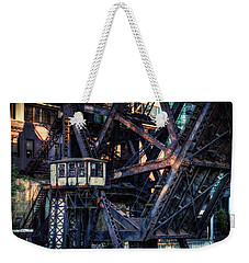 Kinzie Rail Bridge Detail Weekender Tote Bag