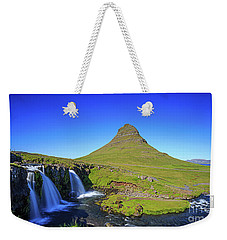 Weekender Tote Bag featuring the photograph Kirkjufell Iceland by Edward Fielding