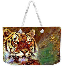 Weekender Tote Bag featuring the photograph  Kisa  by Geri Glavis