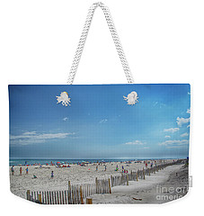 Weekender Tote Bag featuring the photograph Kismet Family Fun by Judy Hall-Folde