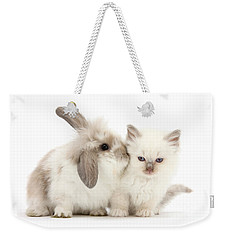 Kiss Her Fluffy Cheek Weekender Tote Bag